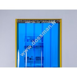 Porte à lanière 200x2 transparente Bleue