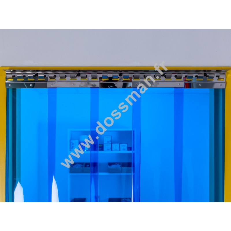 LA 200x2 Transpar Standard Positiv Non ignifug Bleue Traffic SUR MESURE