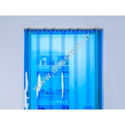 Rideau à lanière 200x2mm transparent bleu