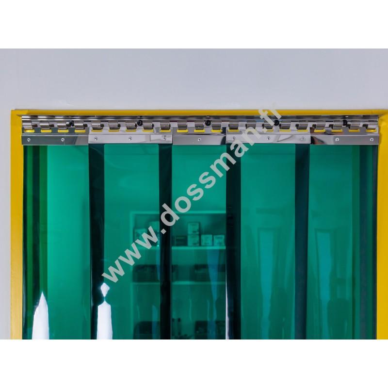 Porte à lanières 200x2mm, vert transparent, SUR-MESURE