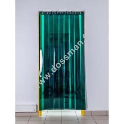 Porte à lanière 200x2 transparente Verte
