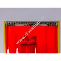 LA 200x2 Transpar Standard Positiv Non ignifug Rouge Traffic SUR MESURE