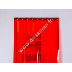 Porte à lanière 200x2 transparente Rouge