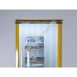 Porte à lanière 200x2 transparente ignifugée M2