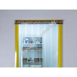 Porte à lanière 200x2 transparente (-25°C) frigorifique