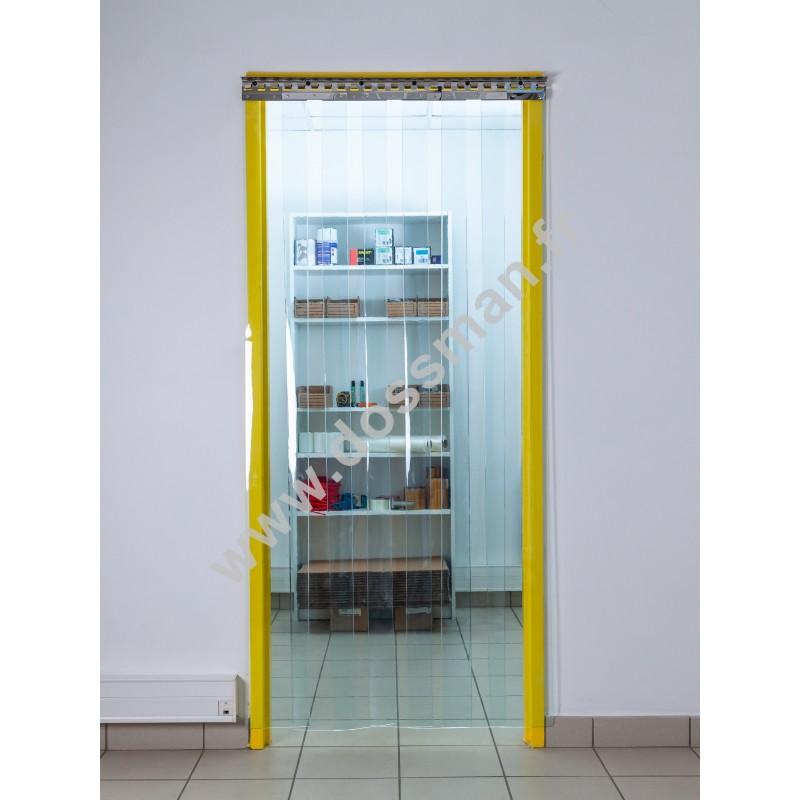 Rideau à lanière PVC - 200x2 mm - Isolation forte 77 mm (77 %) - Transparent - Grand froid -25°C - Porte à lamelles TRAFFIC SYSTEM