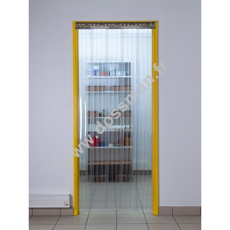 Rideau à lanière PVC - 200x2 mm - Isolation faible 36 mm (36 %) - Transparent - Porte à lamelles TRAFFIC SYSTEM CONFOR