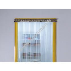 Porte à lamelles de 200x2 transparentes Confort+