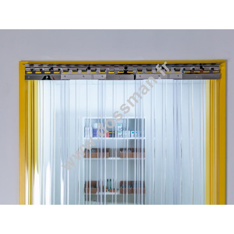 Porte à lanière 200x2 Transparent Confort+ Positiv Non ignifugé Transparent Traffic SUR MESURE