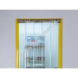 Porte à lanière 200x2 transparente passages intensifs frigorifique (-25°C)