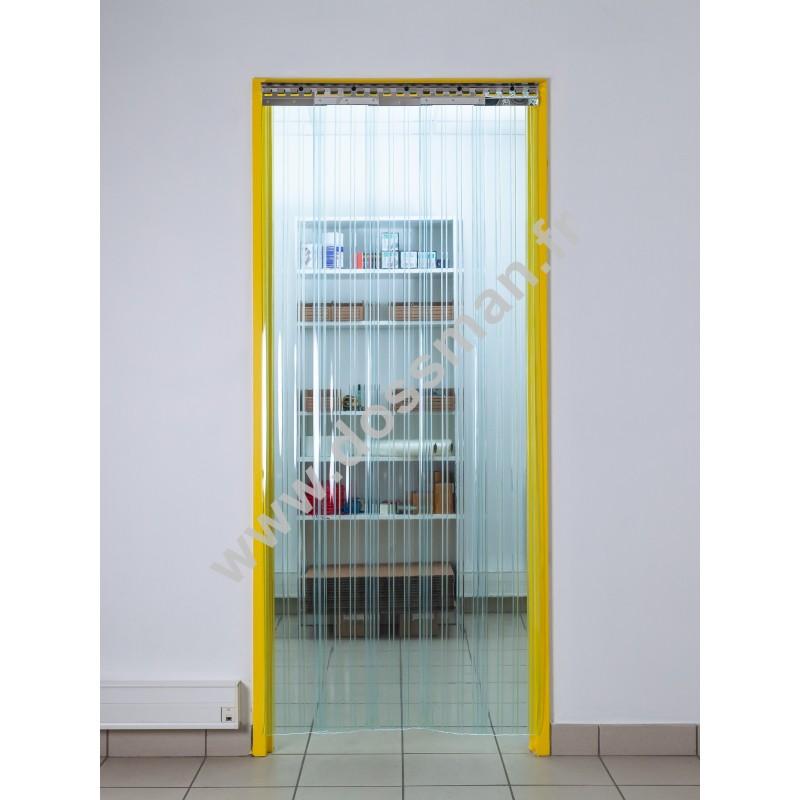 Rideau à lanière PVC - 200x2 mm - Isolation faible 36 mm (36 %) - Grand froid -25°C - Porte à lamelles TRAFFIC SYSTEM CONFOR