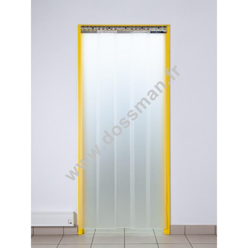 Rideau à lanière PVC - 200x2 mm - Isolation faible 36 mm (36 %) - Translucide Mat - Porte à lamelles TRAFFIC SYSTEM