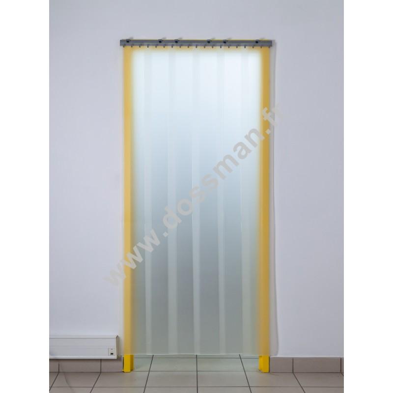 Porte à lanières 200x2 translucide effet sablé
