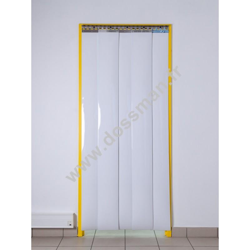 Rideau à lanière PVC - 200x2 mm - Isolation faible 36 mm (36 %) - Opaque Blanc - Porte à lamelles TRAFFIC SYSTEM