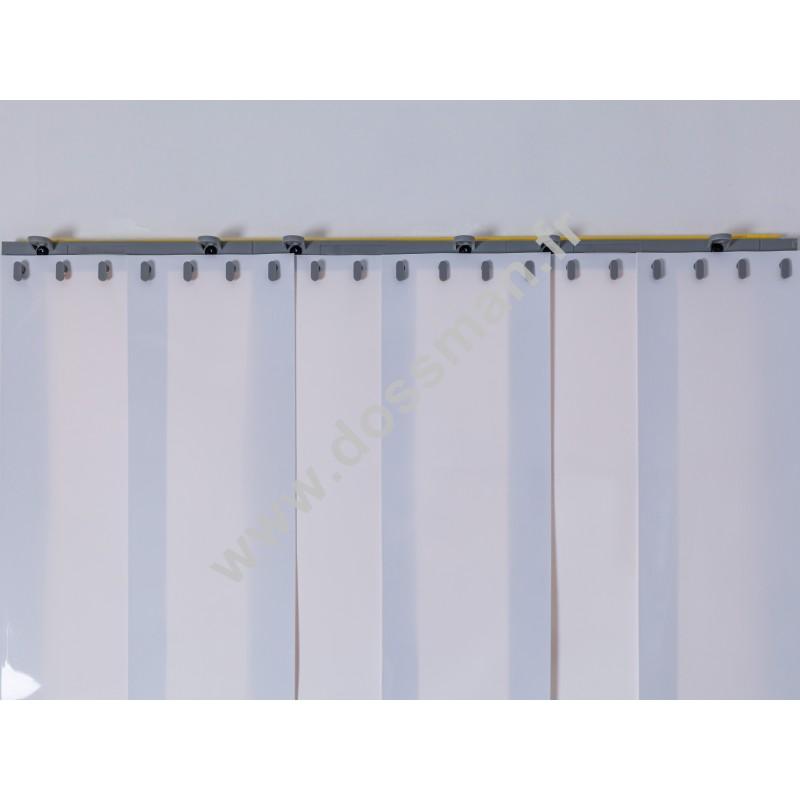 Porte à lanière 200x2 Opaque Standard Positiv Non ignifugé Blanc Quick SUR MESURE