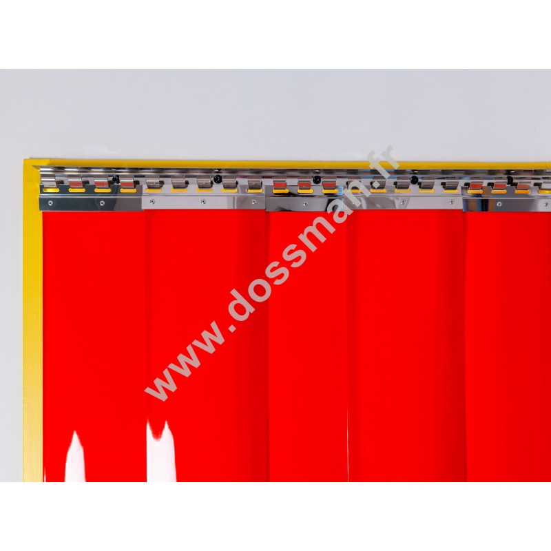 LA 200x2 Opaque Standard Positiv Non ignifug Rouge Traffic SUR MESURE