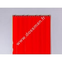 Rideau à lanière 200x2 Opaque Rouge Corail