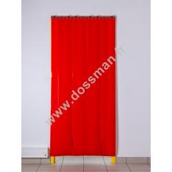 Porte à lanière 200x2mm Opaque Rouge Corail