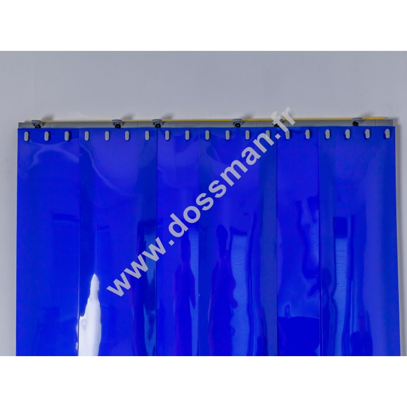 Porte à lanière 200x2 Opaque Standard Positiv Non ignifugé Bleue Quick SUR MESURE