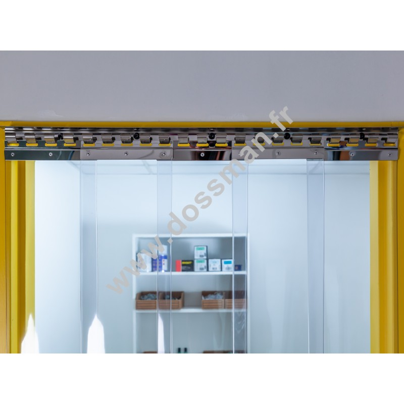 Porte à lanière 200x2 Antistatique Standard Positiv Non ignifugé Transparent Traffic SUR MESURE