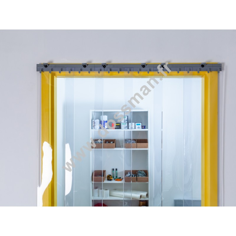 Porte à lanière 200x2 Antistatique Standard Positiv Non ignifugé Transparent Quick SUR MESURE