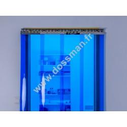Porte à lanière 300x3 transparente Bleue