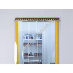 Porte à lanière 300x3 transparente ignifugée M1