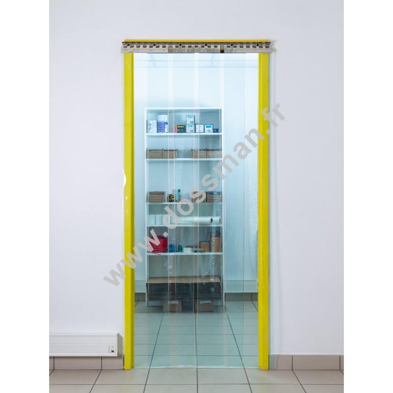 Rideau à lanière PVC - 300x3 mm - Isolation forte 136 mm (91 %) - Transparent - Grand froid -25°C - Porte à lamelles TRAFFIC SYSTEM