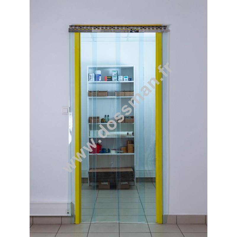 Rideau à lanière PVC - 300x3 mm - Isolation faible 54 mm (36 %) - Transparent - Super Grand froid -60°C - Porte à lamelles TRAFFIC SYSTEM