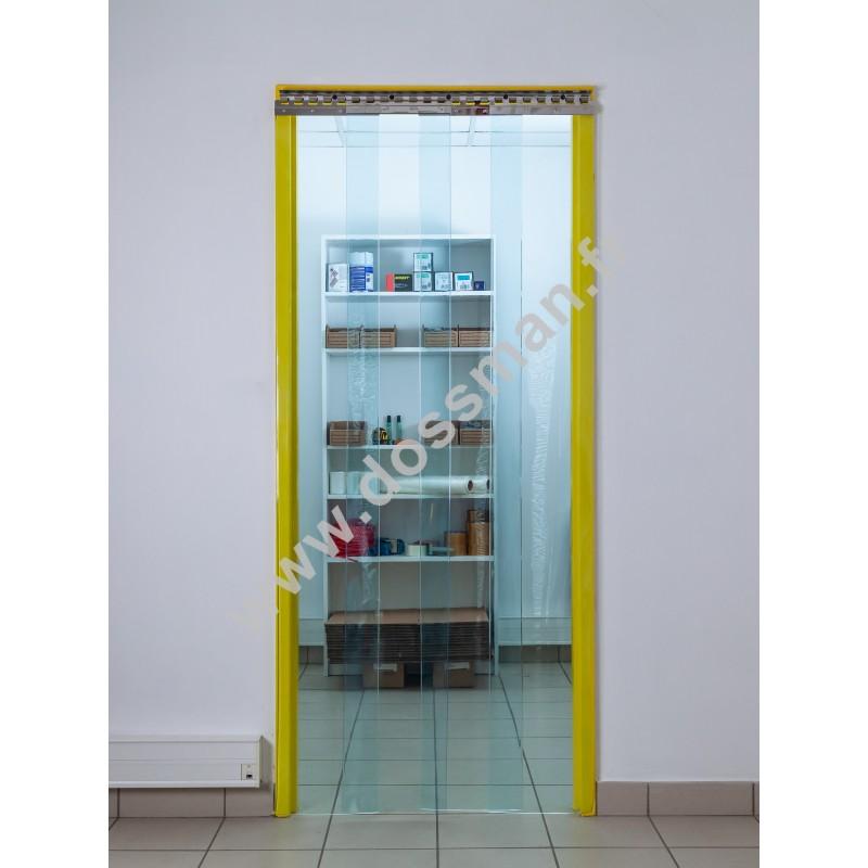 Rideau à lanière PVC - 300x3 mm - Isolation moyenne 95 mm (63 %) - Transparent - Super Grand froid -60°C - Porte à lamelles TRAFFIC SYSTEM