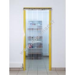 Porte à lanière 300x3 transparente Confort grand passage