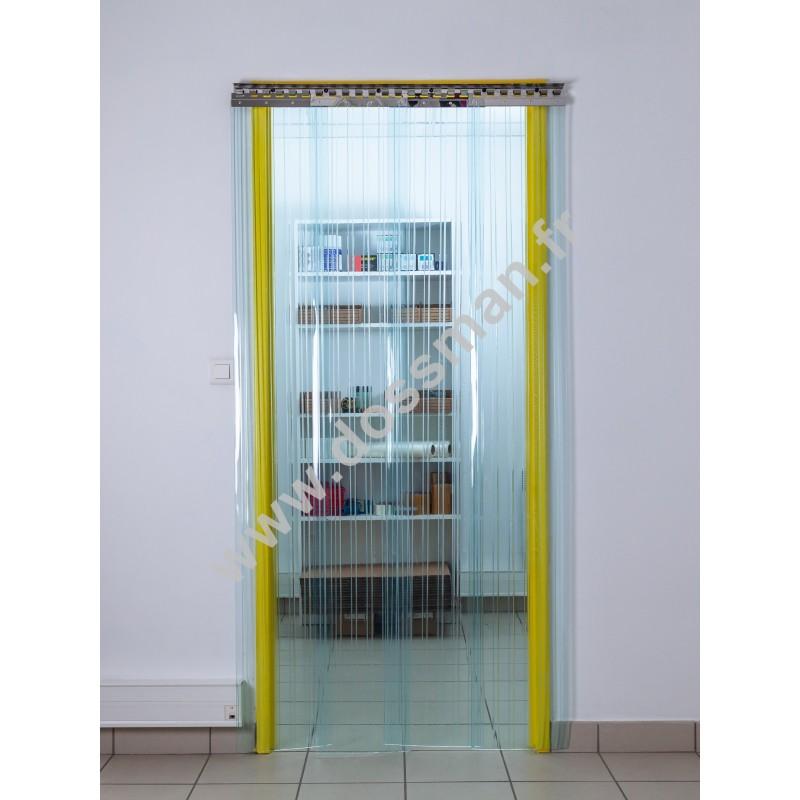 Rideau à lanière - 300x3mm - Isolation 54mm (36%) - Transparent - Grand froid -25°C - Porte à lames TRAFFIC SYSTEM CONFORT