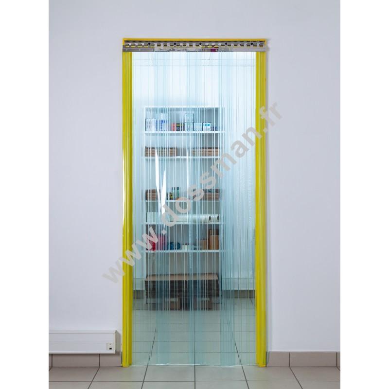 Rideau à lanière - 300x3mm - Isolation 95mm (63 %) - Transparent - Grand froid -25°C - Porte à lamelles TRAFFIC SYSTEM CONFORT