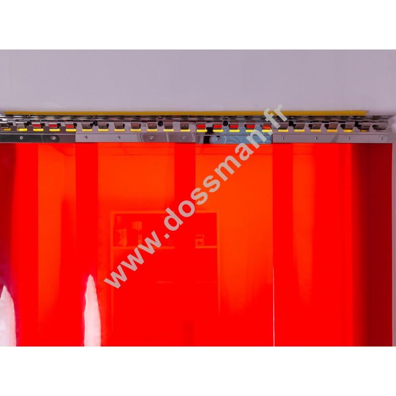 Porte à lanière 300x3 Soudure Standard Positiv ignifugé soudure Rouge Traffic SUR MESURE