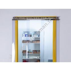 Porte à lanière 400x4 transparente