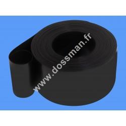 Rouleau de lamelles 50m PVC 200 x 2mm opaques noires