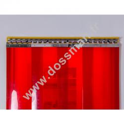 Porte à lanière 300x3 Transparent Standard Positiv Non ignifugé Rouge Traffic SUR MESURE