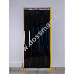 Lanière PVC 200 x 2mm opaque noir, rouleau de 50m