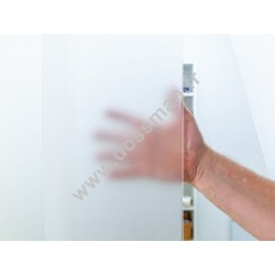 Porte à lamelles plastiques souples 200x2 translucide